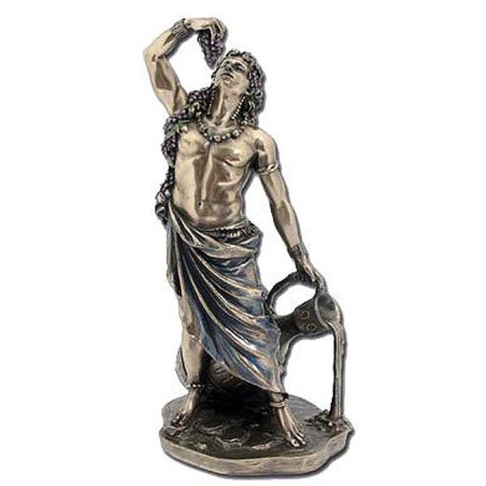 ディオニュソス バッカス像、ワインの神 ギリシャローマ神 ブロンズ風仕上げ彫像 彫刻/ Dionysus (Bucchus) Greek Roman God of Wine Statue (輸入品)