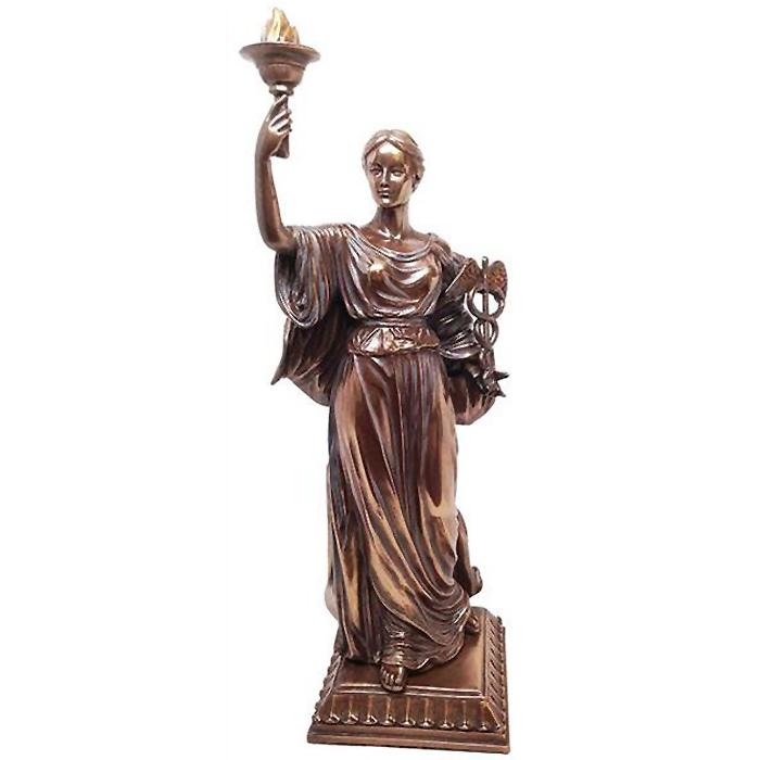 """古代ギリシャ ローマの薬(薬学)の女神""""ヒュギエイア""""彫像 彫刻(医学の神 アスクレピオスとエピオネの娘)(輸入品"""