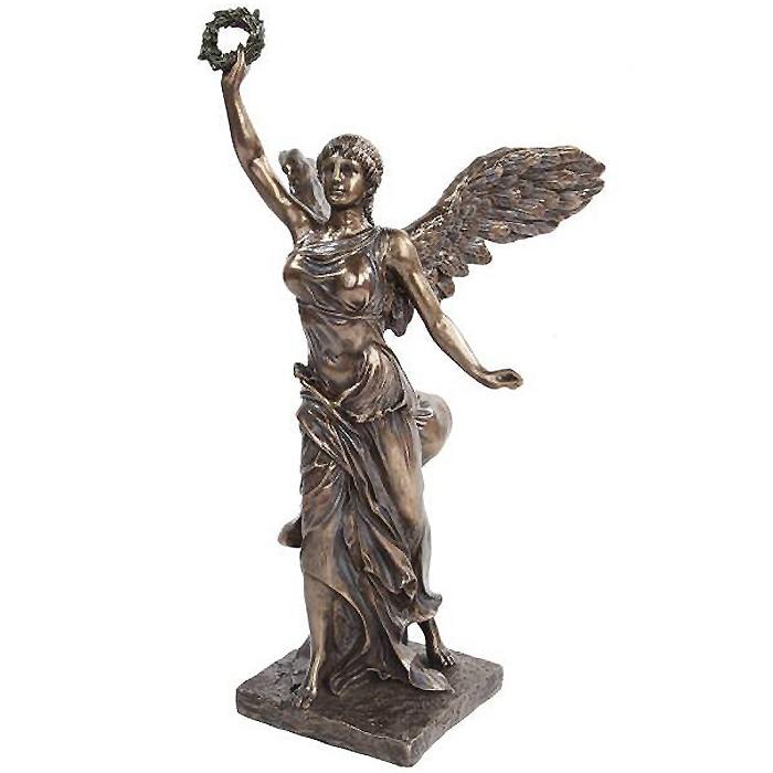 高さ 約32cm 古代ギリシャ「勝利の女神」サモトラケのニケ 復元フィギュア ブロンズ風 彫刻レプリカ 彫像/ Nike Goddess of Victory(輸入品