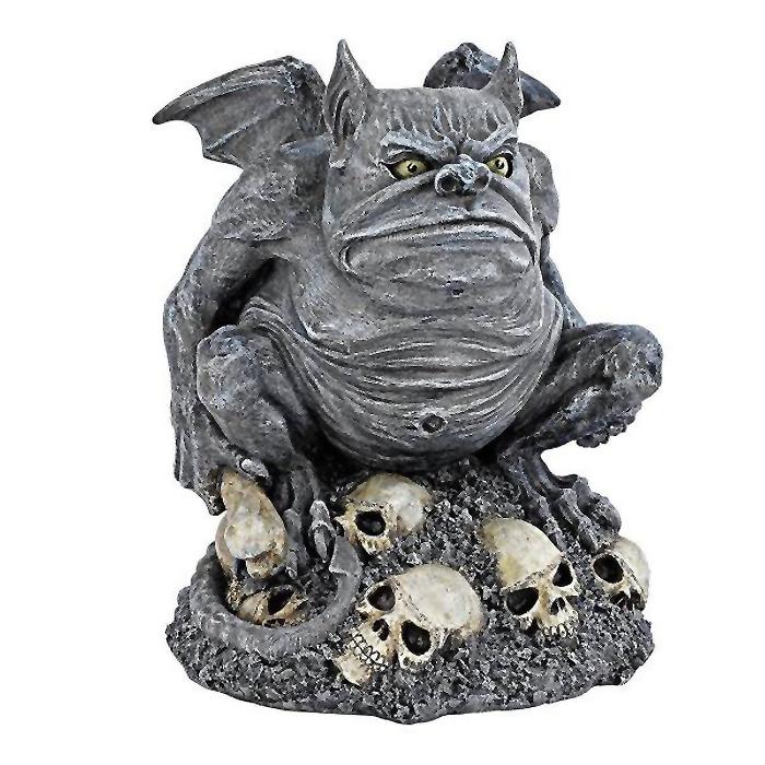 太めのガーゴイル ボーンチラー(骨にぞっとする) トロール彫像 彫刻/ Bone Chiller the Troll Gargoyle(輸入品