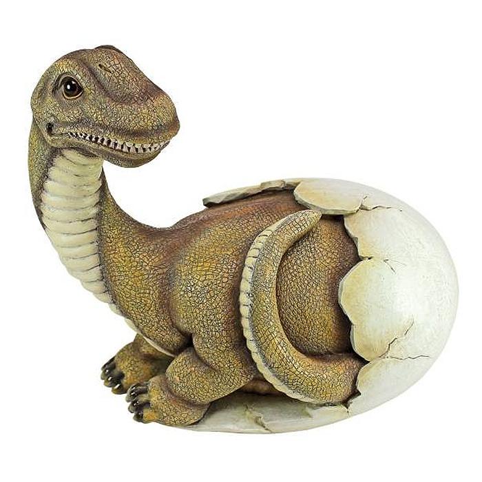 デザイン・トスカノ製 恐竜の赤ちゃん ディノエッグ(恐竜の卵)彫刻 彫像/ Baby Brachiosaurus Dino Egg Statue(輸入品