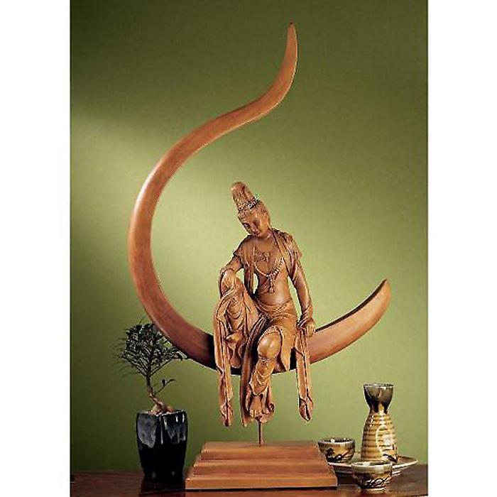 慈悲に満ちた月光菩薩観音 仏教美術彫刻 彫像 日光菩薩 薬師如来 大乗仏教/ Guan Yin Sculpture in Terra Cotta 輸入品