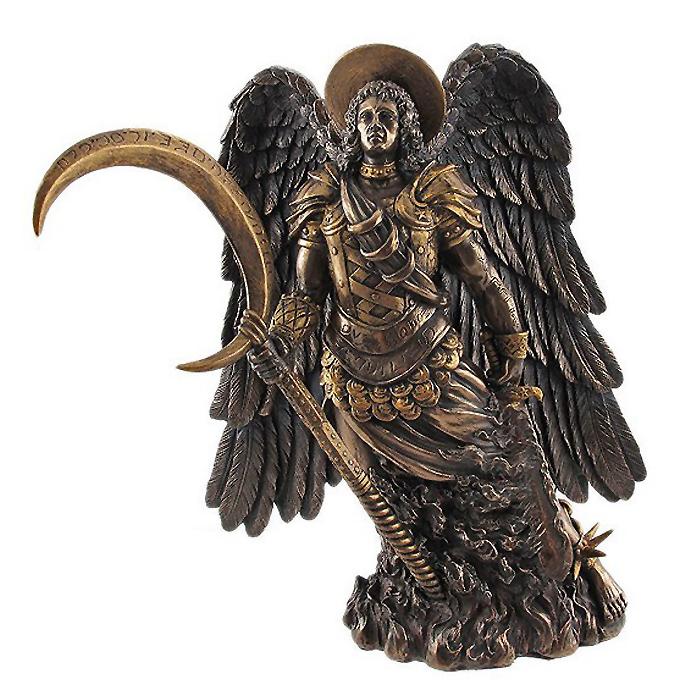 大天使ガブリエル ブロンズ風彫像 8836 (輸入品) / Archangel Gabriel Bronzed Statue