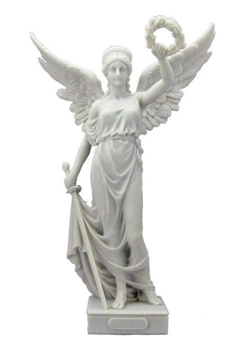 古代ギリシア 剣と花輪を持った、勝利の女神 ニケ 大理石風 彫像 彫刻 ヴェロネーゼ製/ Nike with Sword and Wreath Polystone Statue (輸入品