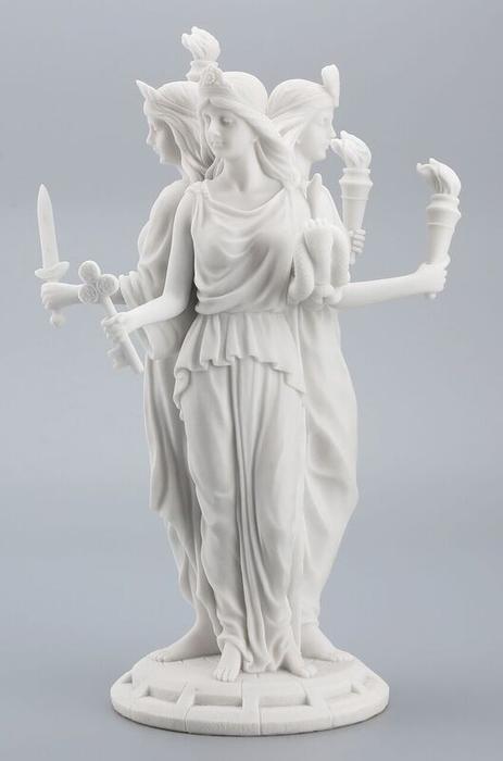 古代ギリシア 魔法と魔法使いの女神 ヘカテー(ヘカテ) 大理石風 彫像 彫刻 ヴェロネーゼ製/ Hecate Greek Goddess of Magic & Witchcraft Statue(輸入品