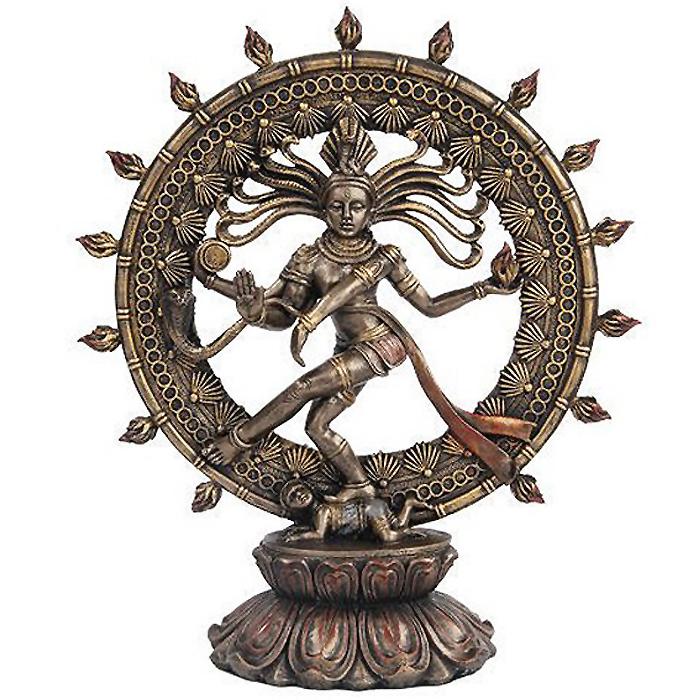 ヒンズー教 シヴァ神 ナトタジャダンス ブロンズ風 彫像 彫刻 美術品/ Hindu Shiva Nataraja Dancing Statue Bronze Finished(輸入品