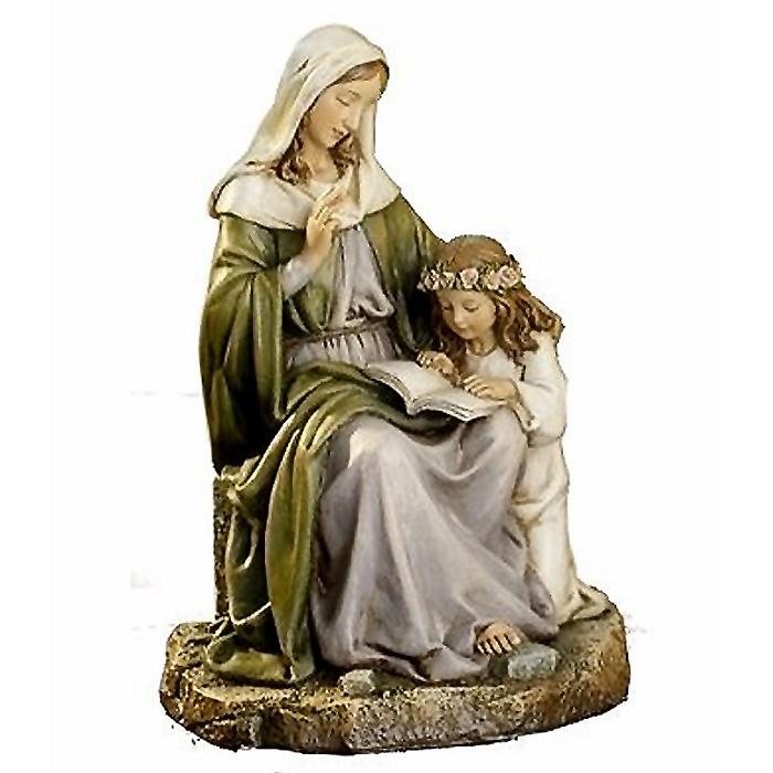 聖母マリアと聖アンナ ルネッサンス彫像 西洋彫刻 高さ 約18cm/Joseph Studio Saint Anne with Mary (輸入品