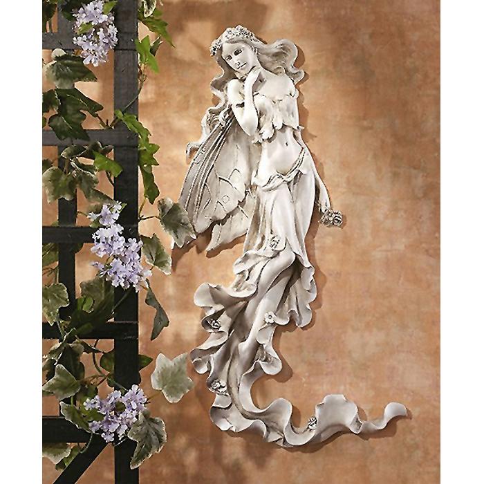 ブリアンナ 夏の風の妖精レリーフ 涼しげな妖精の壁掛け レリーフ彫刻 彫像(彫刻)輸入品