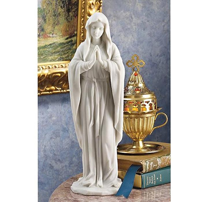 大理石風 聖母マリア像 彫像 彫刻高さ 約29cm キリスト教美術 宗教彫刻/ Blessed Virgin Mary Statue(輸入品