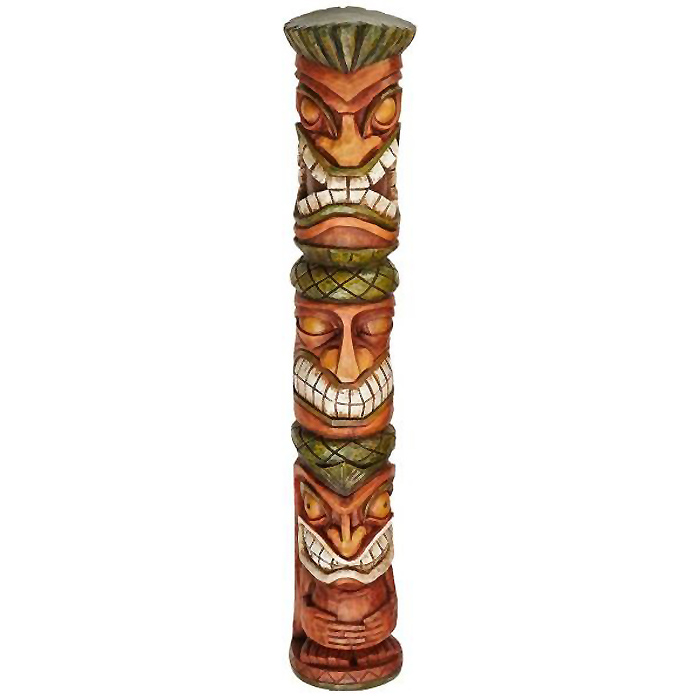 ハワイアン・トーテムポール 南国風オブジェ 彫像 置物彫刻 ガーデンインテリア エスニック飾り/ Moai Haku Pani Tiki Statue(輸入品