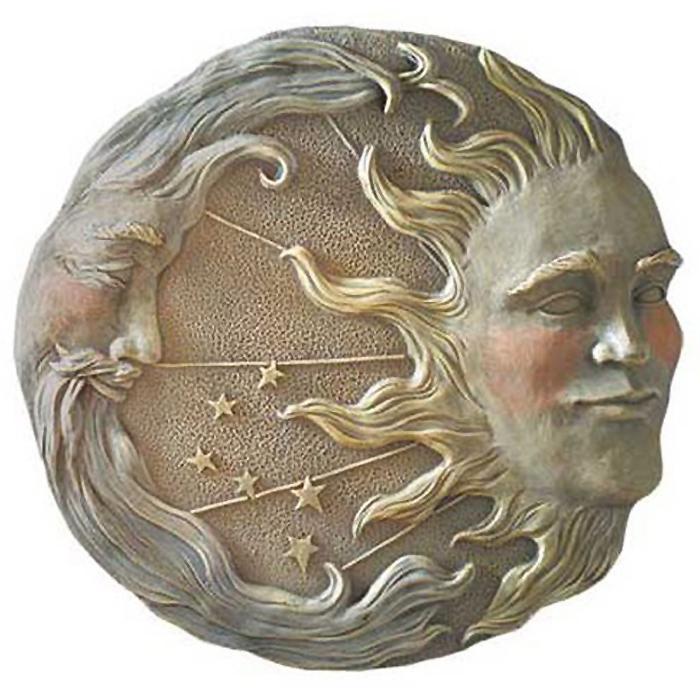 天体の太陽と、月と星の壁装飾 彫像 彫刻/ Gifts & Decor Celestial Sun Moon Star Wall Plaque(輸入品