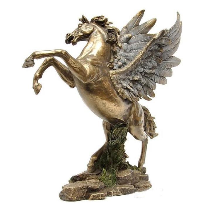 天翔けるペガサス 彫像 彫刻/Cold Cast Bronze Pegasus Statue Figurine(輸入品)