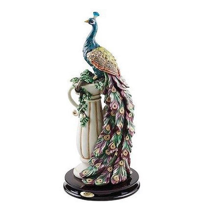 孔雀の楽園 ピーコック サンクチュアリ 彫刻 彫像/ Design Toscano The Peacock's Sanctuary Sculpture(輸入品
