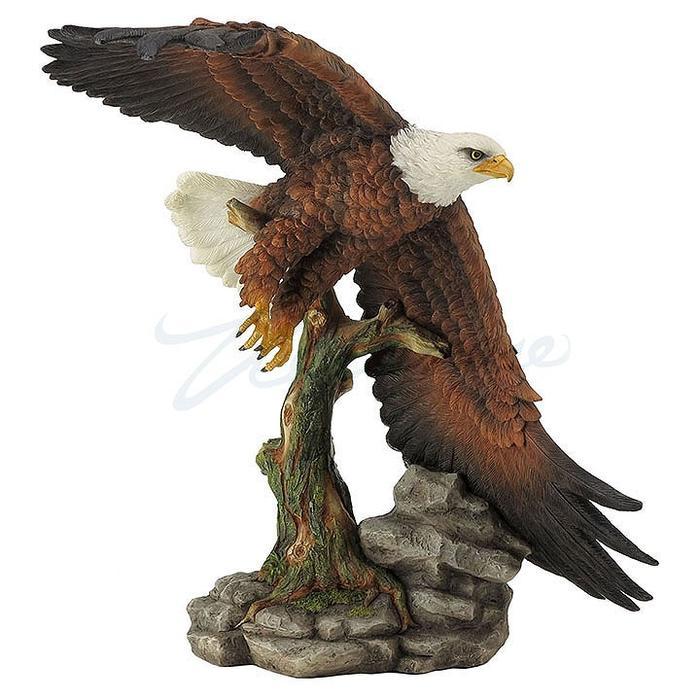 アメリカの国鳥 荘厳に空を飛ぶ白頭鷲(ワシ) 彫刻 彫像/ Official Bird of the USA Majestic Flying Bald Eagle Statue(輸入品