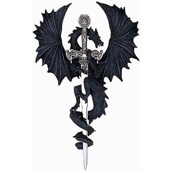 ドラゴンコレクション ソードコレクション ファンタジー装飾 彫刻 彫像/ Dragon Collection with Sword Collectible Fantasy Decoration (輸入品