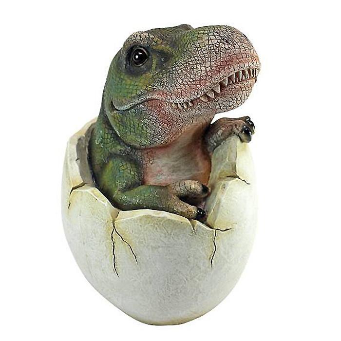 恐竜の赤ちゃん 卵から顔を出した ティラノサウルス レックスの赤ちゃん 彫像(輸入品