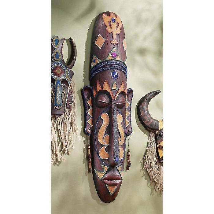 グランドスケール アフリカ部族民芸(マスク)仮面 彫像 彫刻/ Grand Scale Tribal Wall Mask(輸入品