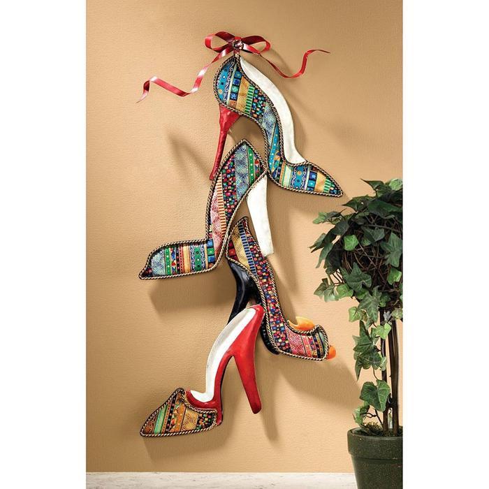 デザイン・トスカノ製 シューズ クチュール 壁彫刻 オブジェインテリア 彫像/ Shoe Couture Wall Sculpture(輸入品