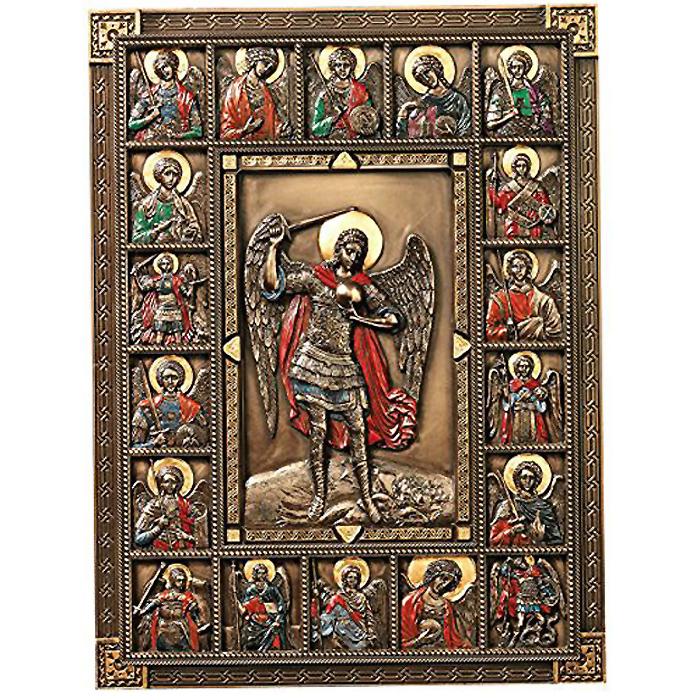 守護天使ミカエル 大天使の大聖堂のイコン 壁彫刻 彫像/ St. Michael, the Archangel Cathedral Icon Wall Sculpture(輸入品)