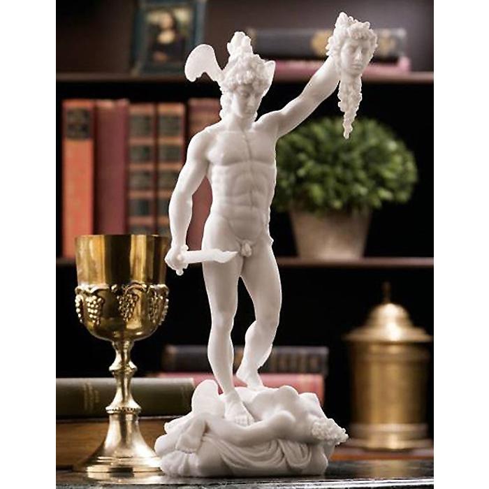 メドゥーサを退治するペルセウス 彫像 高さ約31cm/ 12 in. Perseus Beheading Medusa Statue(輸入品