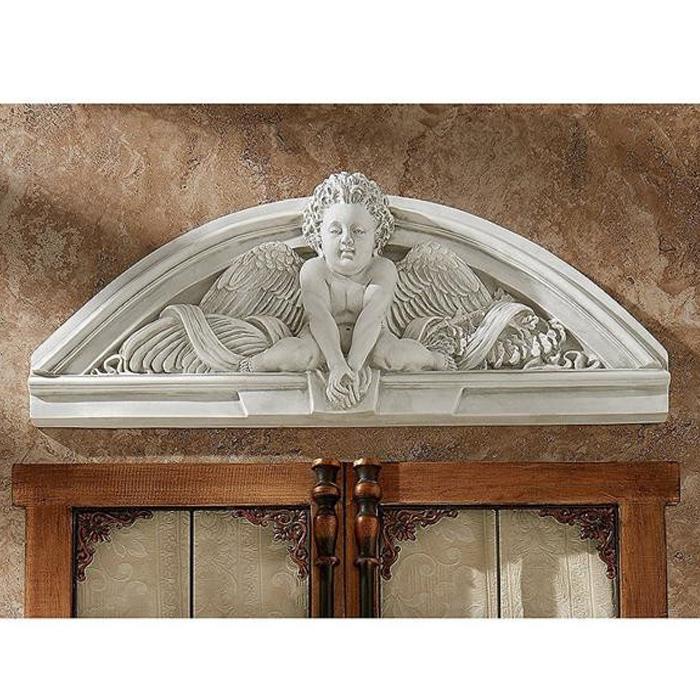 ケルビム(天使)ウエルカム ウォールペディメント 彫刻 彫像/ Cherubs Grande Welcome Sculptural Wall Pediment(輸入品