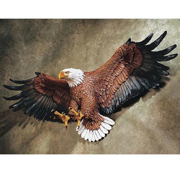 洋風彫像 フリーダムプライド アメリカンイーグル(白頭鷲)壁彫刻 彫像/ Freedom's Pride American Eagle Wall Sculpture[輸入品