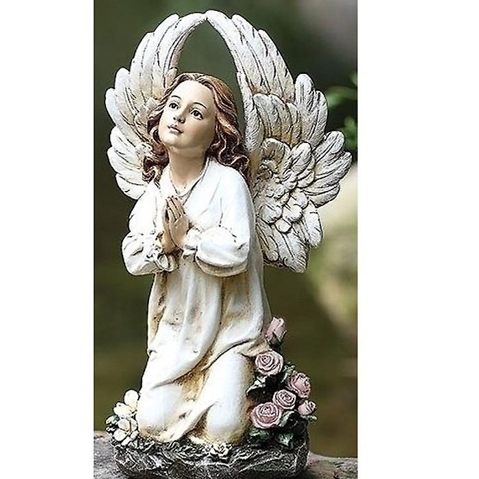お庭のアクセントに!ガーデン彫刻 ひざまずく天使の彫像 / Statues Kneeling Angel(輸入品