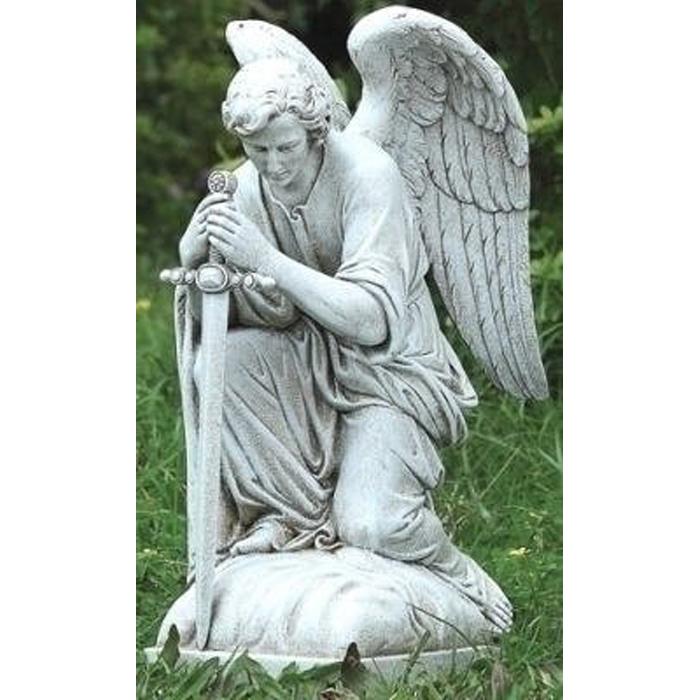 ヨセフ・スタジオ製 剣を持って、跪いた天使(エンジェル) 彫像 ガーデン彫刻 高さ(輸入品