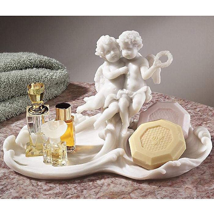 ベルサイユ風 天使の装飾皿 聖水盤 彫刻 彫像 / Versailles Angels Font Decorative Dish[輸入品
