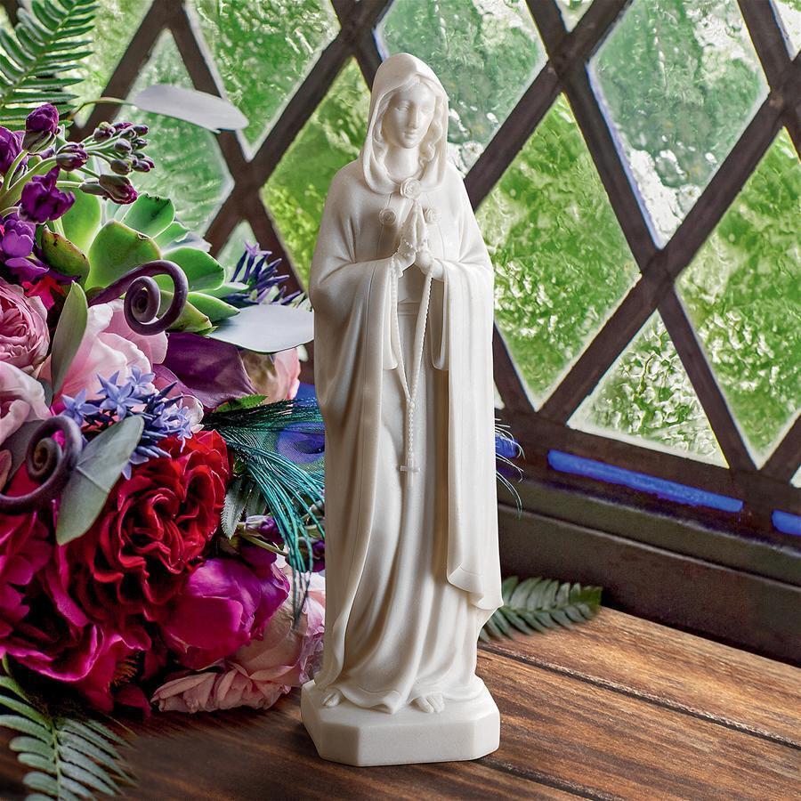 デザイン・トスカノ製 聖母マリア 癒しのお姿 大理石風 彫刻 彫像/ Blessed Virgin Mary Bonded Marble Statue(輸入品
