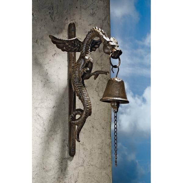 ゴシック調 フィレンツェ ドラゴン 鉄製 ドアベル 彫刻 彫像/ Design Toscano Florentine Dragon Gothic Iron Doorbel(輸入品