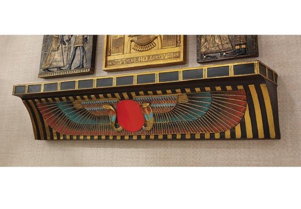 エスニック 飾り棚 古代エジプト ウル・ウォッチ セレモニーオファーシェルフ 飾り棚 彫像 彫刻/ Ceremonial Offering Shelf(輸入品