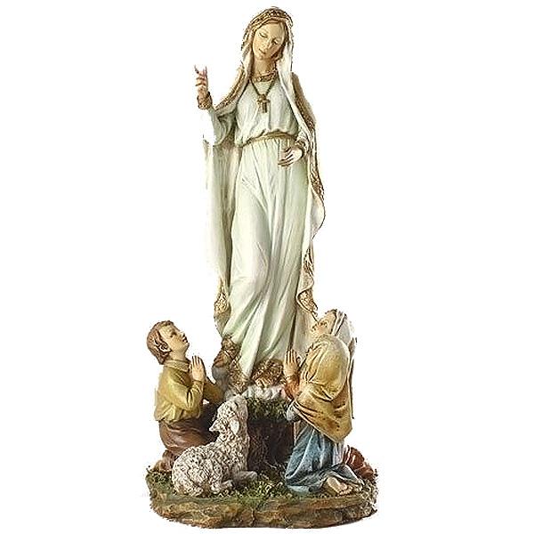 クリスチャン用 彫刻 ファティマの聖母 彫刻 彫像 高さ 約30cm/ 12 Our Lady Of Fatima Figure[輸入品