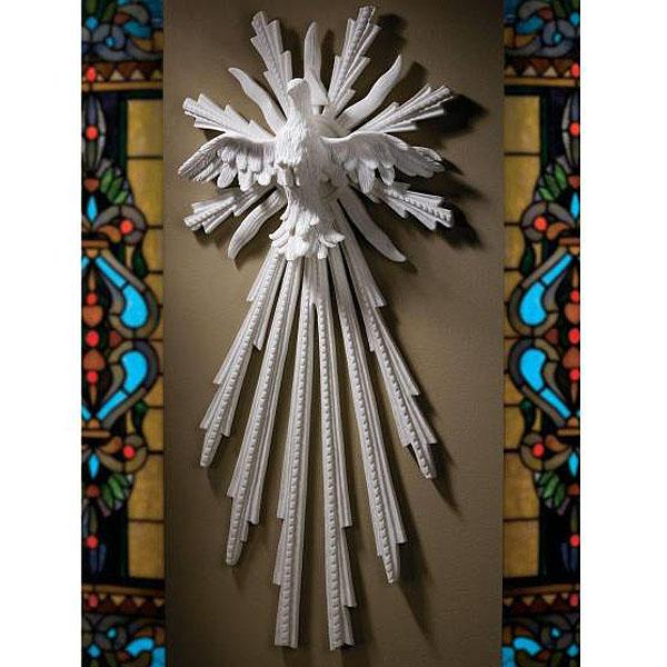 バロック風祭壇壁彫刻 平和を象徴する鳩 自然の大理石風 彫像/ Dove of Peace Bonded Natural Marble Wall(輸入品)