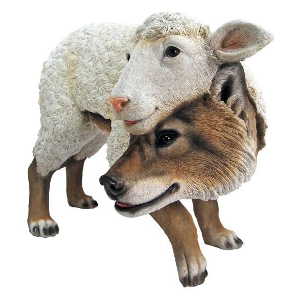羊の皮を被った狼 ガーデン庭の彫刻 彫像/ Wolf in Sheep's Clothing Garden Statue(輸入品)