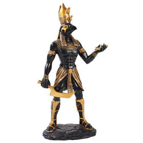 古代エジプト ホルス神 ストーン風 彫像 彫刻/ Egyptian Horus Home Decor Statue Made of Polyresin(輸入品