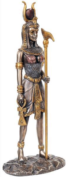 古代エジプトの女神 ハトホル神 愛と喜び母性像 彫刻 彫像/ Music And Dance Hathor Statue Bronzed Sculpture[輸入品
