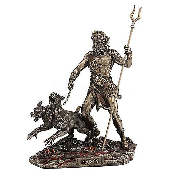 ケルベロスを引き連れた、ハデス 古代ギリシャ神 彫像 彫像/ Hades Holding Staff With Cerberus Statue(輸入品