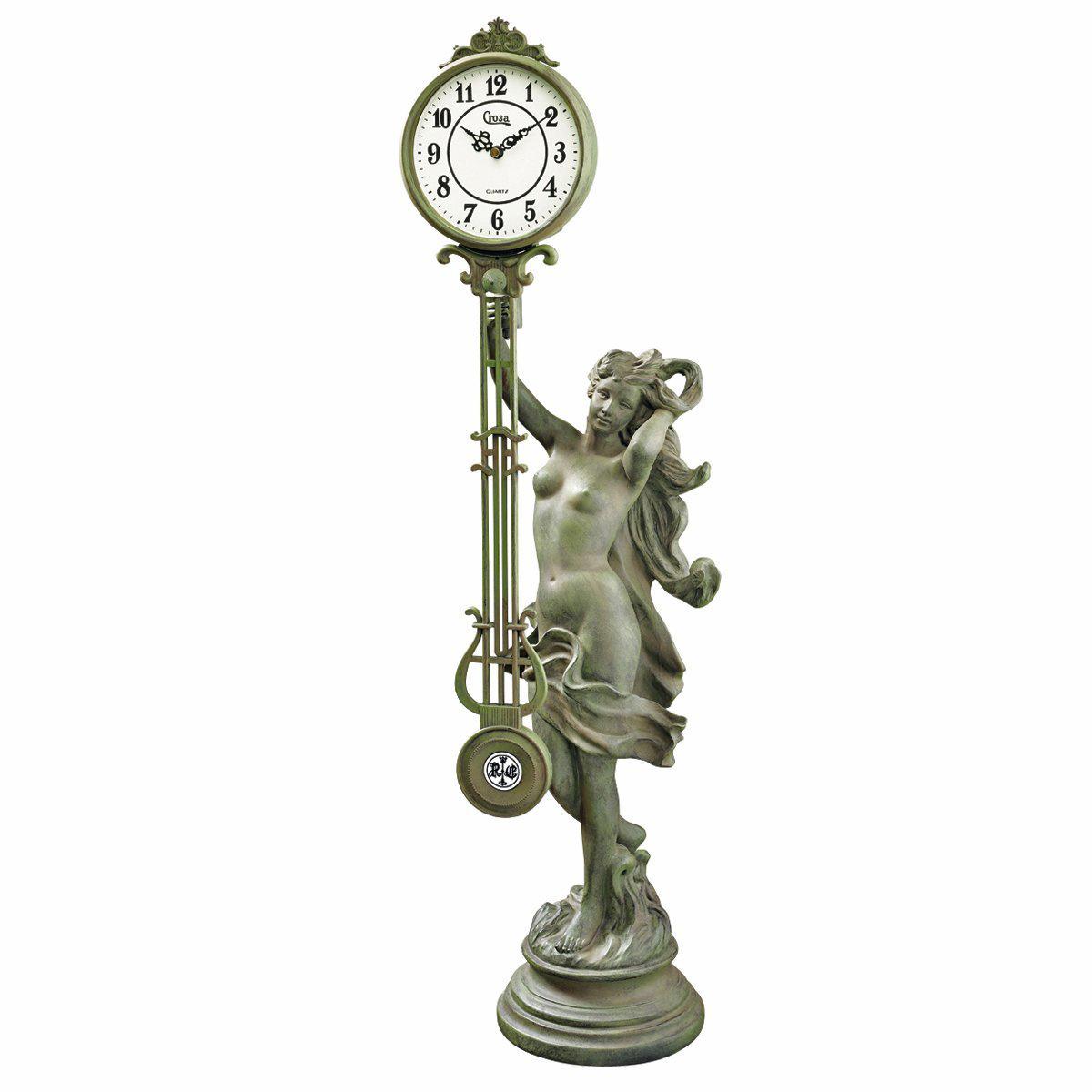 デザイン・トスカノ製 タイム・ペンデュラム・クロック 振り子時計の女神 彫像 彫刻/ Goddess of Time Pendulum Cloc(輸入品