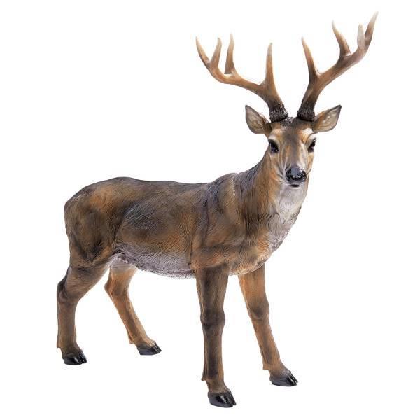 大きな 牡鹿 彫像 バック ディア像 デザイン・トスカノ製/ Design Toscano Big Rack Buck Deer Statue(輸入品