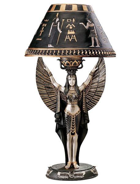 古代エジプト イシス神 テーブルランプ 彫刻 彫像/ Design Toscano Isis Egyptian Sculptural Table Lamp(輸入品