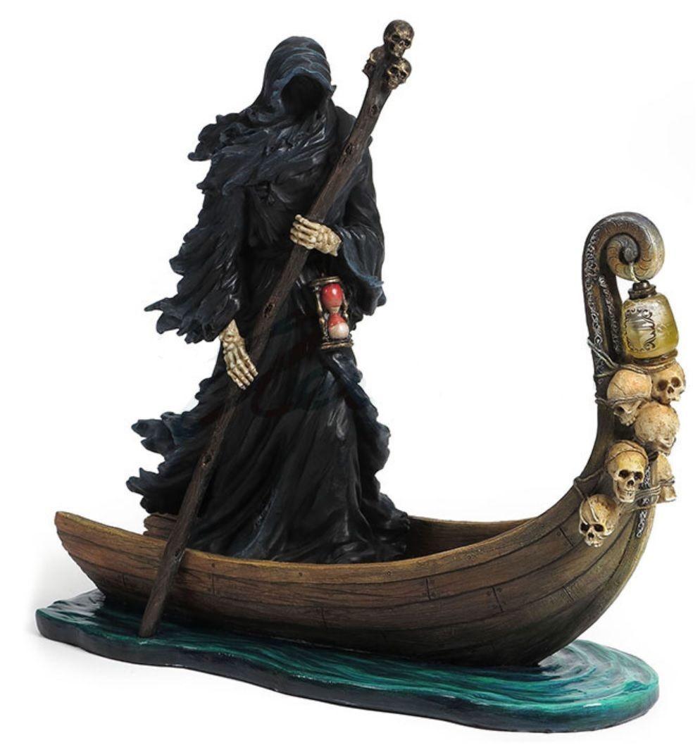 カロン死神 地獄ハーデス 彫像 冥府の川(三途の川)ステュクスの渡し守 /Nemesis Now Charon Ferryman Gothic Lake Reaper (輸入品