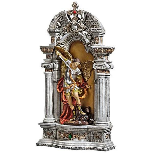 聖天使ミカエル 悪魔を打破する彫像(壁龕)置物 壁掛けオブジェ/ The Niche of St. Michael The Archangel Statue(輸入品