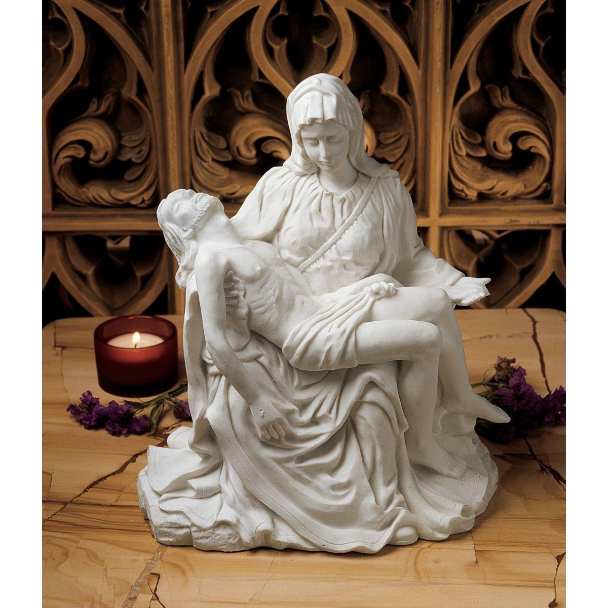 慈愛 ミケランジェロ作 ピエタ彫像 彫刻 高さ約22cm/ The Pieta (1499) Bonded Marble Statue (輸入品