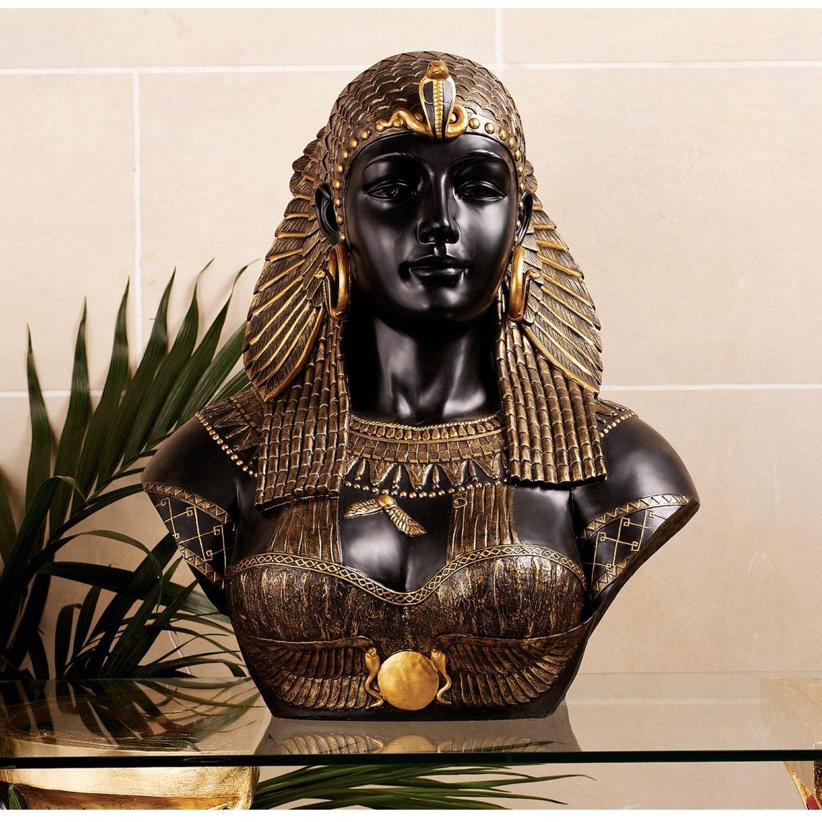 古代エジプト クレオパトラ女王 胸像 新古典派 インテリア彫刻 置物オブジェ 彫像/Queen Cleopatra Neoclassical Sculptural Bust(輸入品