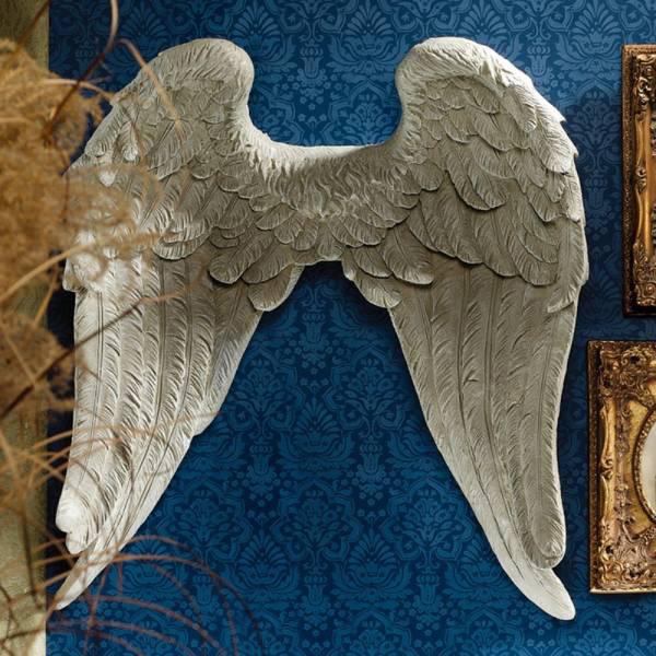 エンジェル 天使の翼 壁掛け装飾 インテリア彫像 彫刻/ Design Toscano Napoleon Sculpture(輸入品