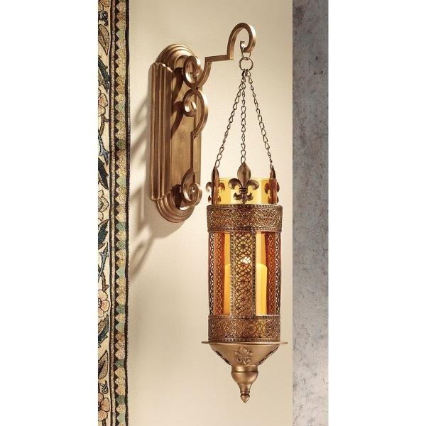 中世ヨーロッパ洋風 壁掛けアンティーク風ランプ キンナード城 キャンドルホルダー 燭台壁飾り 彫像(輸入品