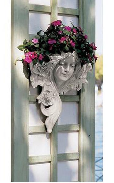 ルエトワール(星の女神)壁掛けプランター フレンチ グリーンマン壁装飾 彫像 彫刻/ Le Etoile French Greenmen Wall Decor (輸入品