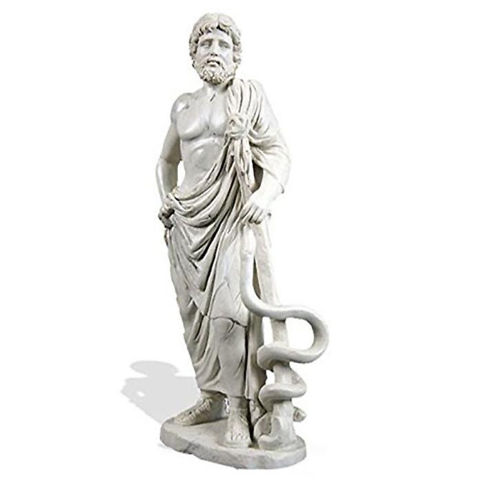 医学の神 アスクレピオス エピダウロスの医師 彫刻 彫像/ Asclepios from Epidaurus Medicine Statue (輸入品