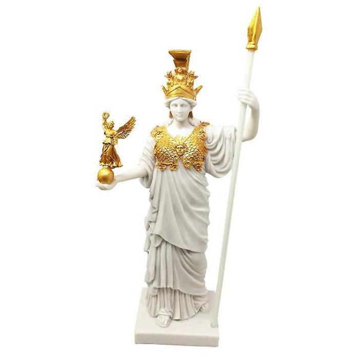 ゴールドリーフレジン製 アテネの守護神 アテナ女神 古代ギリシャ 知恵と戦争の神 彫刻 彫像/ Virgin Patroness of Athens Athena(輸入品